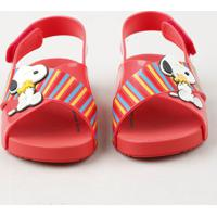 Sandália Infantil Zaxy Nina Snoopy Vermelha