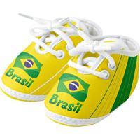 Sapatinho Infantil Torcida Baby Brasil Unissex - Unissex
