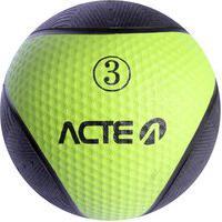 Bola Medicine Ball Ginástica 3 Kg Em Borracha T103 Acte