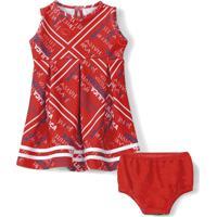 Vestido Com Calcinha Lilica Ripilica Bebê 101083580002 Vermelho