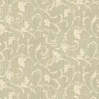 Papel De Parede Floral- Verde Claro & Bege- 100X52Cmshark Metais
