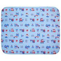 Cobertor Bebê Masculino Azul Construção - Bercinho - Tamanho Único - Azul