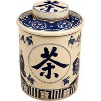 Vaso Decorativo De Porcelana Com Tampa Frisch
