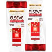 Kit Elseve Reparação Total 5+ L?Oréal Paris Shampoo 400 Ml+ Condicionador 400Ml - Unissex-Incolor