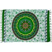 Canga Shopping Bali Mandala Sun - Feminino-Verde Escuro