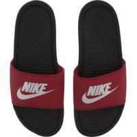 Chinelo Nike Benassi Jdi - Slide - Masculino - Vermelho/Preto