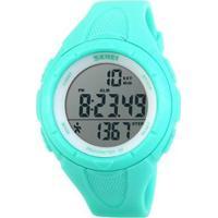 Relógio Skmei Pedômetro Digital Feminino - Feminino-Verde