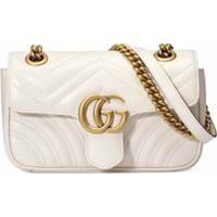 Gucci Bolsa Gg Marmont Matelassê Mini - Branco