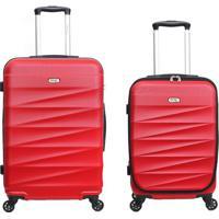Conjunto De Malas Berna Com Bolso Laptop - Vermelha Swiss Move