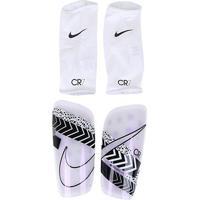Caneleira Nike Mercurial Lite Cr7 - Unissex-Branco+Preto