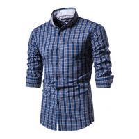 Camisa Xadrez Roanoke Masculina - Azul