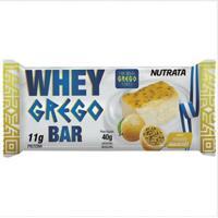 Barra Whey Grego Bar - 1 Unidade De 40G Morango Com Chantilly - Nutrata - Unissex