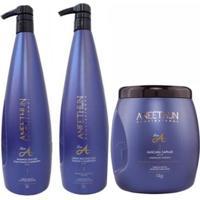 Kit Shampoo Creme E Máscara Aneethun Linha A Profissional - Unissex-Incolor