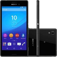 """Smartphone Sony Xperia M4 Aqua E2363 Preto - 16Gb - 13Mp - Tela Hd 5"""" - Android 5.0"""