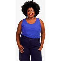 Blusa Clarice Plus Size Azul Royal Rodrigo Moura