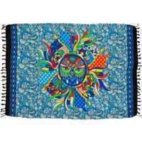 Canga Shopping Bali Mandala Coruja - Feminino-Azul Turquesa