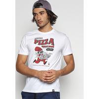 Camiseta Cavalera T Shir Pizza Masculina - Masculino-Branco