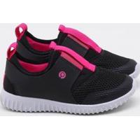 Tênis Ortopé Infantil Eva Fly - Feminino-Preto+Pink