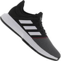 Tênis Adidas Gamecourt - Masculino - Preto/Branco