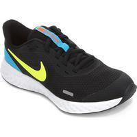 Tênis Infantil Nike Revolution 5 - Unissex-Preto+Verde