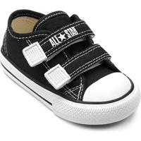 Tênis Infantil Converse All Star Ct Border 2 Velcros Baby - Unissex-Preto