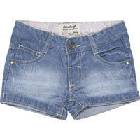 Short Jeans Estonado - Azullilica Ripilica E Tigor T. Tigre