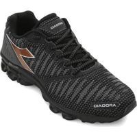 Tênis Diadora Stream Masculino - Masculino-Preto+Bronze