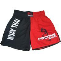 Short Progne Esportes Muay Thai Vermelho