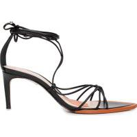 Sandália Feminina Strings Lace-Up - Preto