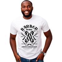 Camiseta Geek10 Barbeiro Ny Branca