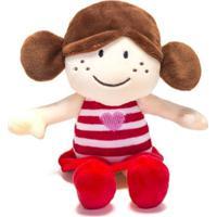 Chocalho De Pelucia Unik Toys Boneca Vermelha