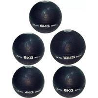 Kit De Bola Medicine Slam Ball Para Crossfit 4 Kg; 2X 6 Kg; 8 Kg E 10 Kg Liveup Ls3004 - Unissex