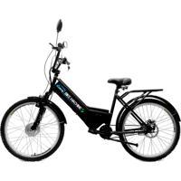 Bicicleta Elétrica Machine Motors 350W 36V Preto/Preto