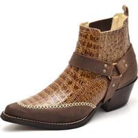 cee00ece06 ... Bota Top Franca Shoes Country Bico Fino Anaconda Masculina - Masculino -Caramelo