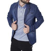 Blazer Jeans Bivik Azul
