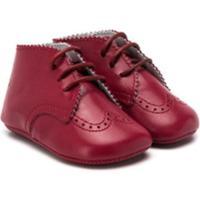 Gallucci Kids Ankle Boot Com Cadarço - Vermelho