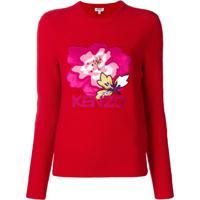 Kenzo Suéter 'Indonesian Flower' - Vermelho