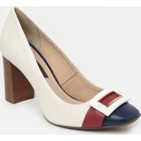 Sapato Tradicional Em Couro - Branco & Vermelho- Sajorge Bischoff