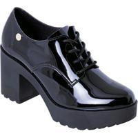 Sapato Moleca Preto Em Sintético Verniz