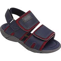 Papete Com Velcro & Recortes- Azul Marinho & Vermelho Eskiath