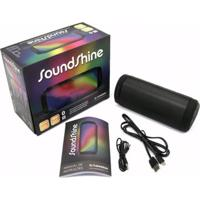 Caixa De Som Portátil Soundshine Bluetooth E Luz De Led - Preto