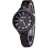Relógio Feminino Madeira Dododeer-A16 - Preto
