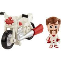 Mini Figura E Veículo - 15 Cm - Disney - Pixar- Toy Story 4 -Duke Caboom E Moto De Manobra - Mattel Mini Figura E Veículo - 15 Cm - Disney - Pixar- T