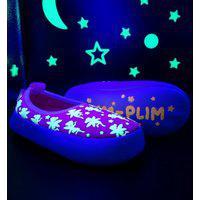 Pantufa Infantil Ortopasso Glow In The Dark Menina Rosa