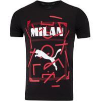 Camiseta Milan Dna Tee Puma - Masculina - Preto