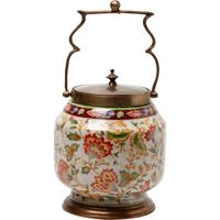 Vaso Decorativo De Porcelana Le Jardin Com Alça