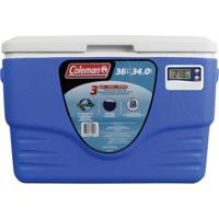 Caixa Térmica Com Termômetro 36 Qt Azul 34 Litros - Unissex