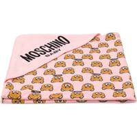 Moschino Kids Toalha Estampada Com Capuz - Rosa