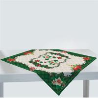Toalha De Mesa Quadrada 75Cm X 75Cm Decorativa Natal 36461