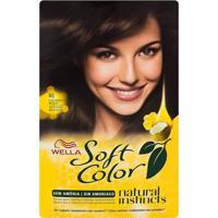Tintura Wella Soft Color Kit Creme Sem Amônia Cor 40 Castanho Médio